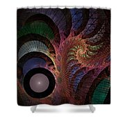 Freefall - Fractal Art Shower Curtain by NirvanaBlues