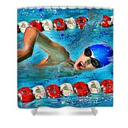 Freestyle Shower Curtain by Stephen Younts