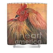French Country Rooster Shower Curtain by Nadine Rippelmeyer