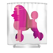 French Poodle Shower Curtain by Naxart Studio
