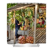 Fresh Fruits For The Day Shower Curtain by Heiko Koehrer-Wagner
