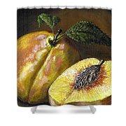Fresh Peaches Shower Curtain by Adam Zebediah Joseph