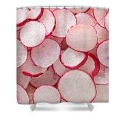Fresh Radishes Shower Curtain by Steve Gadomski
