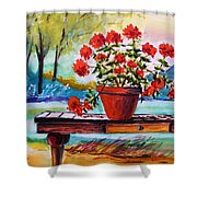 From The Potting Shed Shower Curtain by John Williams