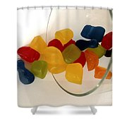 Fruit Gummi Candy Shower Curtain by Cheryl Young