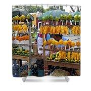 Fruit Stand Antigua  Guatemala Shower Curtain by Kurt Van Wagner