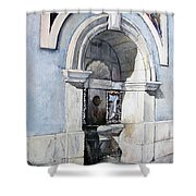 Fuente Castro Urdiales Shower Curtain by Tomas Castano