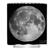 Full Moon Shower Curtain by Roth Ritter
