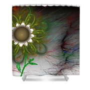 Funky Floral Shower Curtain by David Lane