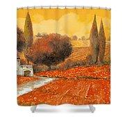 fuoco di Toscana Shower Curtain by Guido Borelli