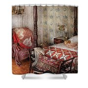 Furniture - Bedroom - A place to sleep Shower Curtain by Mike Savad