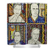 Gang Of Four Shower Curtain by Robert SORENSEN