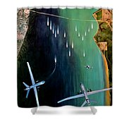 Gangplank Shower Curtain by Todd Krasovetz