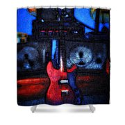 Garage Rock Shower Curtain by Bill Cannon