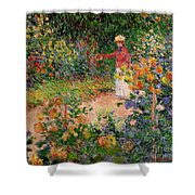 Garden At Giverny Shower Curtain by Claude Monet