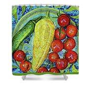 Garden Harvest Shower Curtain by Shawna Rowe
