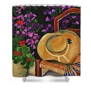 Garden Scene Shower Curtain by Elise Palmigiani