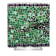 Gecko Shower Curtain by Jamie Frier