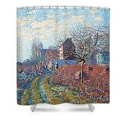 Gelee Blanche Shower Curtain by Alfred Sisley