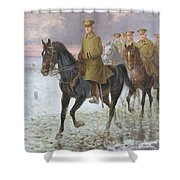 General John J Pershing  Shower Curtain by Jan van Chelminski