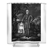General Lee Visits The Grave Of Stonewall Jackson Shower Curtain by War Is Hell Store