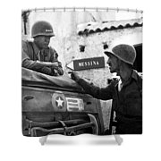 General Patton In Sicily Shower Curtain by War Is Hell Store