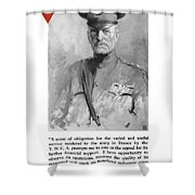 General Pershing - United War Works Campaign Shower Curtain by War Is Hell Store