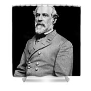 General Robert E Lee - CSA Shower Curtain by Paul W Faust -  Impressions of Light