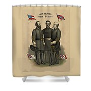 Generals Jackson Beauregard And Lee Shower Curtain by War Is Hell Store