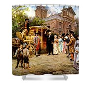 George Washington Arriving At Christ Church Shower Curtain by War Is Hell Store