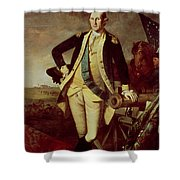 George Washington At Princeton Shower Curtain by Charles Willson Peale