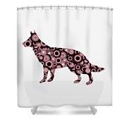 German Shepherd - Animal Art Shower Curtain by Anastasiya Malakhova