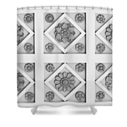 Getty Villa Coffered Peristyle Ceiling Shower Curtain by Teresa Mucha