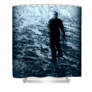 Ghost in the snow Shower Curtain by Perry Webster