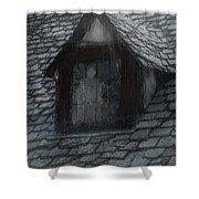 Ghost Rain Shower Curtain by RC DeWinter
