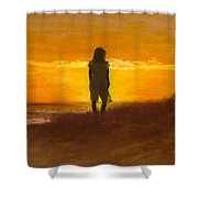 Girl On The Dunes Shower Curtain by Jack Skinner