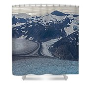 Glacial Curves Shower Curtain by Mike Reid