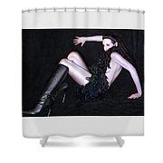 Glam Shower Curtain by Jaeda DeWalt