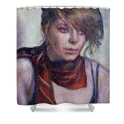 Glamour Girl Shower Curtain by Quin Sweetman