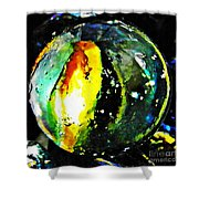 Glass Abstract 83 Shower Curtain by Sarah Loft