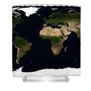 Global Image Of The World Shower Curtain by Stocktrek Images