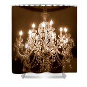 Glow from the Past Shower Curtain by KAREN WILES