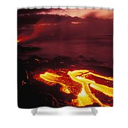 Glowing Lava Flow Shower Curtain by Peter French - Printscapes