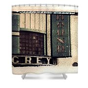 Go Greyhound And Leave The Driving To Us Shower Curtain by Jane Linders