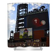 Go Phillies - Citizens Bank Park - Left Field Gate Shower Curtain by Bill Cannon