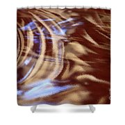 Go With The Flow - Abstract Art Shower Curtain by Carol Groenen