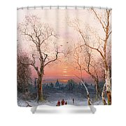 Going Home Shower Curtain by Nils Hans Christiansen