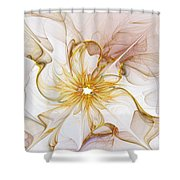 Golden Glow Shower Curtain by Amanda Moore