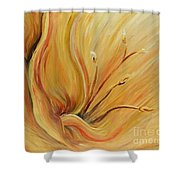 Golden Glow Shower Curtain by Nadine Rippelmeyer