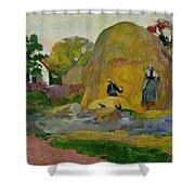 Golden Harvest Shower Curtain by Paul Gauguin